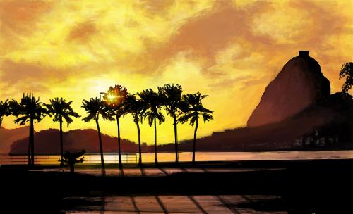 p u00f4r do sol - desenho de    mari