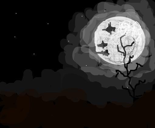 Noite Sombria Desenho De Becca Pandinha Gartic