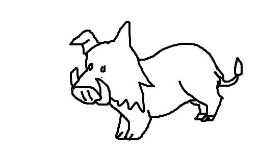 javali desenho de eryka gartic