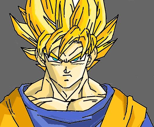 Goku Super Saiyajin Para Colorir