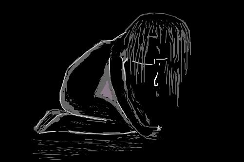 Resultado de imagem para desenho de um depressivo