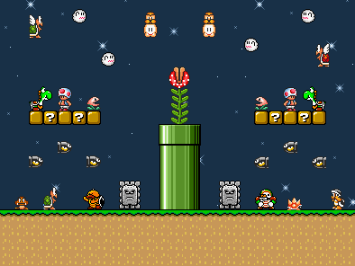 Mario Enemies Party - (Pixel/Lowpoly) Draueiro C.