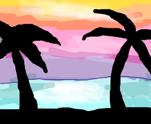 Paisagem Colorida Desenho De Jorgekook Gartic
