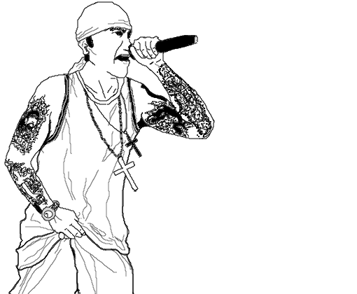 rapper - desenho de  metaleiro maluco