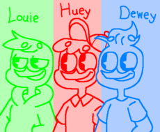 louie, huey and dewey