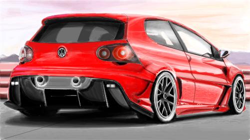Volkswagen Golf R >>  VW 650xx  (Tuning) - Desenho de _rsdesign_ - Gartic