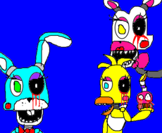 mangle,toy chica e toy bonnie