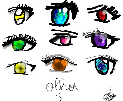 Olhos Anime Treino Desenho De Tsubakisan Gartic