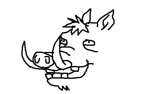 javali desenho de akamoto gartic
