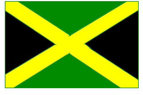 bandeira da jamaica - desenho de alannesm