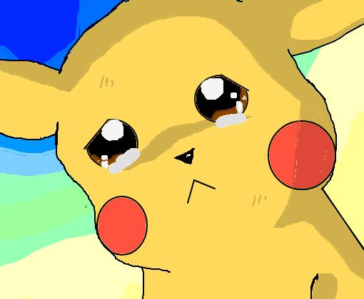 Pikachu Triste Desenho De Alexiacraft Gartic