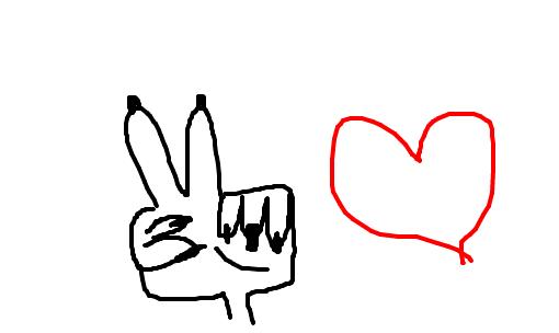 Paz E Amor Desenho De Ana Veangence Gartic