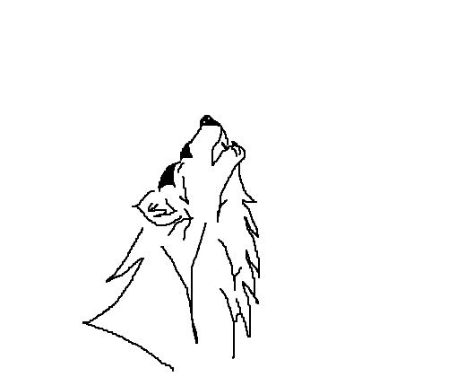 Lobo Uivando Desenho De Anjinho Negro Gartic