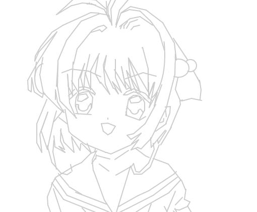 Sakura Card Captor Linear Design Desenho De Anychan Gartic