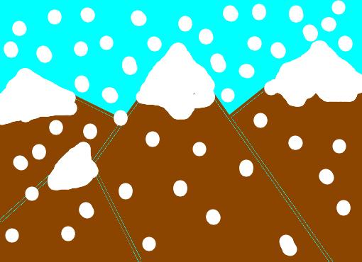 Montanhas Com Neve Desenho De Arcoiris123 Gartic