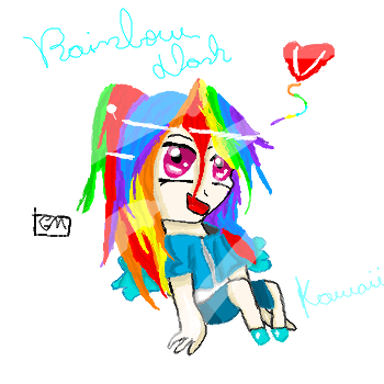 Rainbow dash Chibi :3