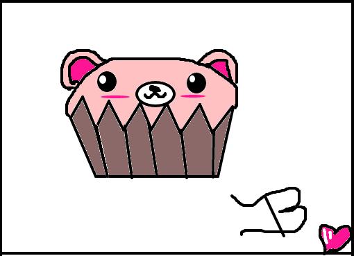 cupcake de ursinho pro josué desenho de bala de menta gartic