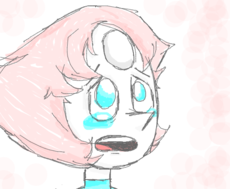 Pearl crying