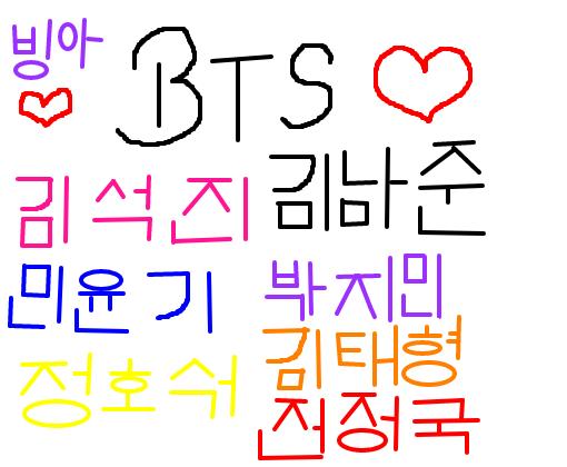 Nomes Hangul bts - Des...