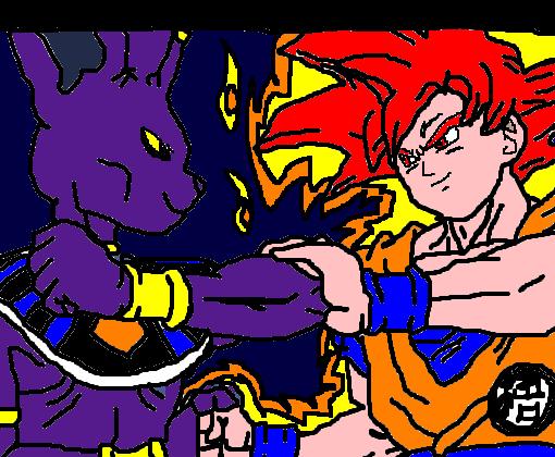 Goku Vs Bills Batalha Dos Deuses Desenho De Black Goku Gartic