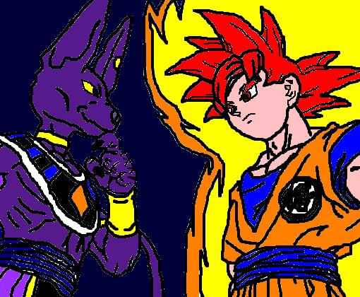 Goku Vs Bills Dragon Ball Super Desenho De Black Goku Gartic