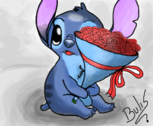 Stitch in love