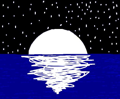 Praia De Noite Desenho De Canal Morena Gartic