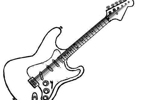 Guitarra Stratocaster Desenho De Caoperdido Gartic