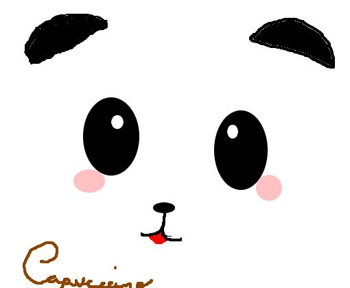 Panda Fofinho - Desenho de capucccino - Gartic