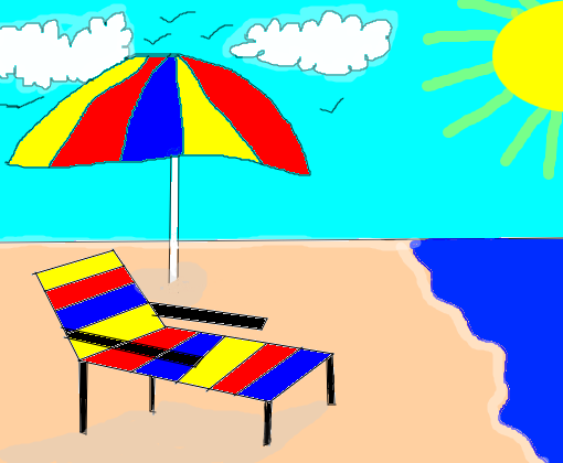 cadeira de praia  guarda-sol - Desenho de carinasnz - Gartic c63e3da3c6