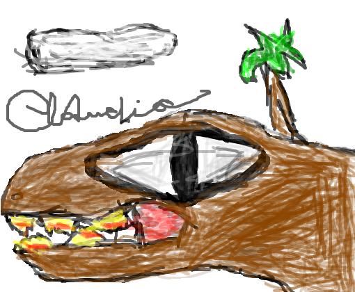 dinossauro olho grande desenho de clafeldoido gartic