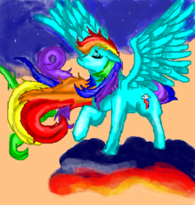 Rainbow Dash P/ Cally_