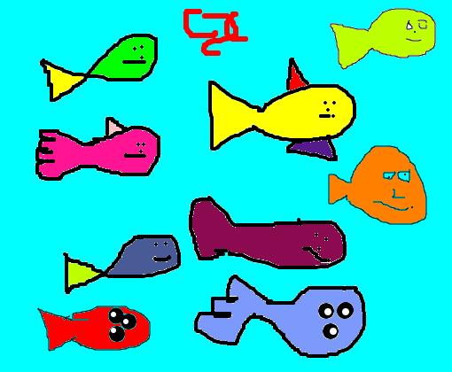 Meus Peixinhos Coloridos Desenho De Cuscuz889 Gartic