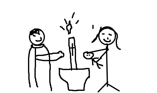 batismo desenho de daniel1768 gartic