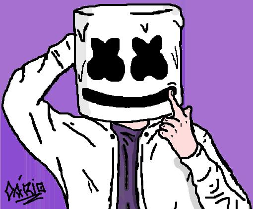 Marshmello Dj Desenho De Dario Gartic