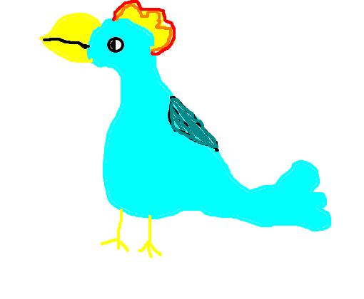 pássarinho azul desenho de debora on gartic