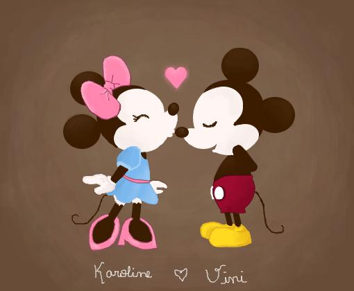 Minnie E Mickey Desenho De Devonne Gartic