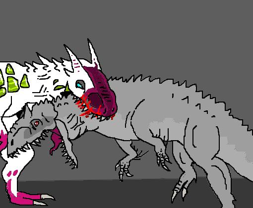 atomic rex vs indominus rex desenho de dodorex gartic