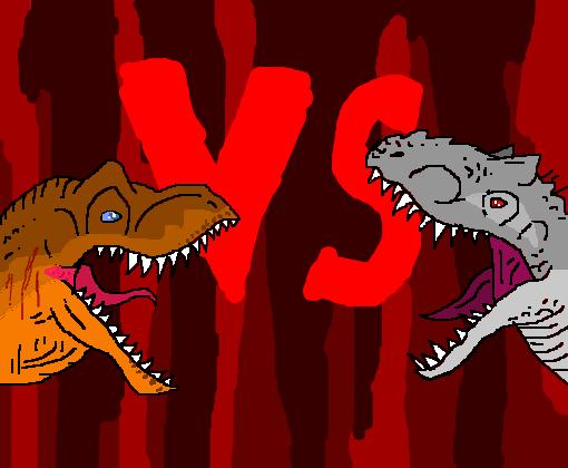t rex vs indominus rex desenho de dodorex gartic