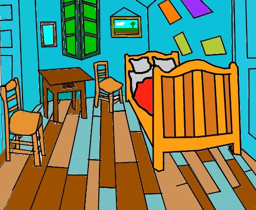 vincent van gogh (quarto em arles) - Desenho de doge_mito - Gartic