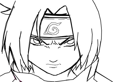 preto branco sasuke uchiha by eguchi