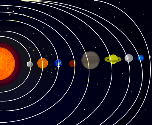 Sistema Solar - Desenho de elisonw - Gartic
