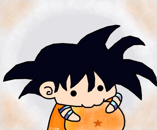 goku kawaii - desenho de elyn