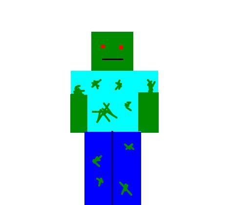 zumbi minecraft desenho de eruick047 gartic