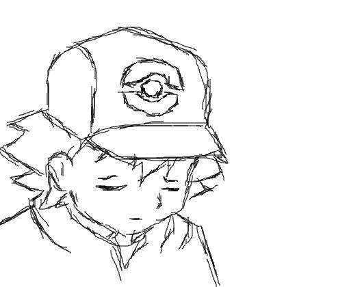 ash pokemon esboço desenho de feerhax gartic