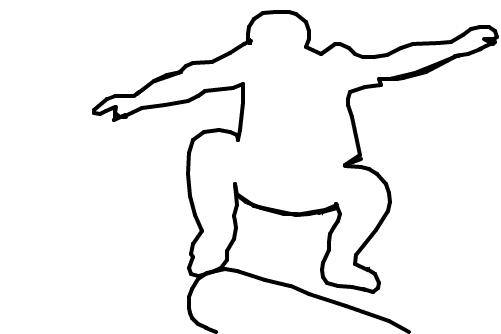 skatista 1 desenho de flavio566 gartic