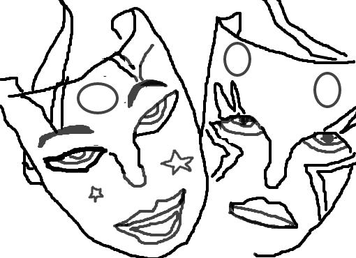 máscaras desenho de florbrandolt gartic