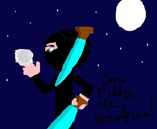 filha de herobrine desenho de flormagia7 gartic