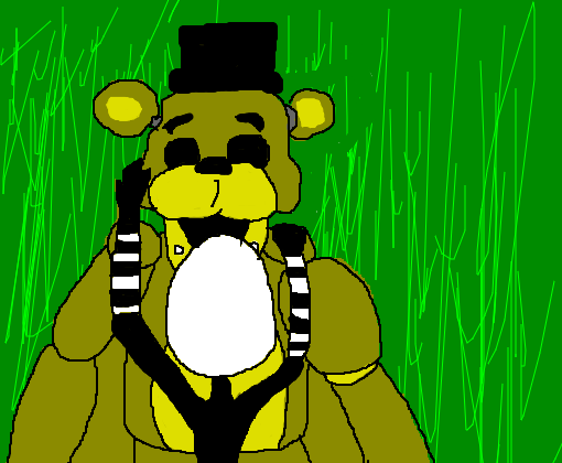 golden freddy and puppet