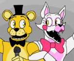 Mangle e Golden Freddy (p/ Wolfgirl)